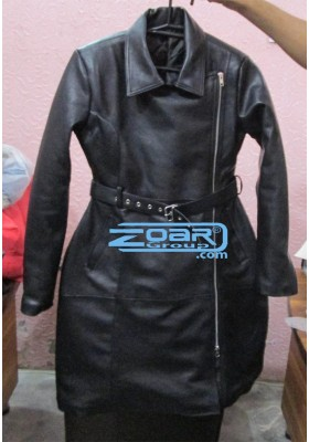 Leather and Pvc Coat