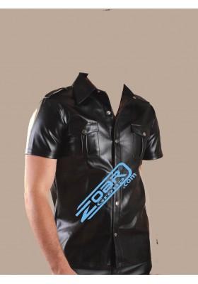 PU Leather Shirt