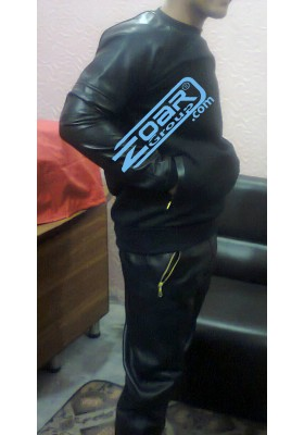 Leather & Fleece Tracksuit